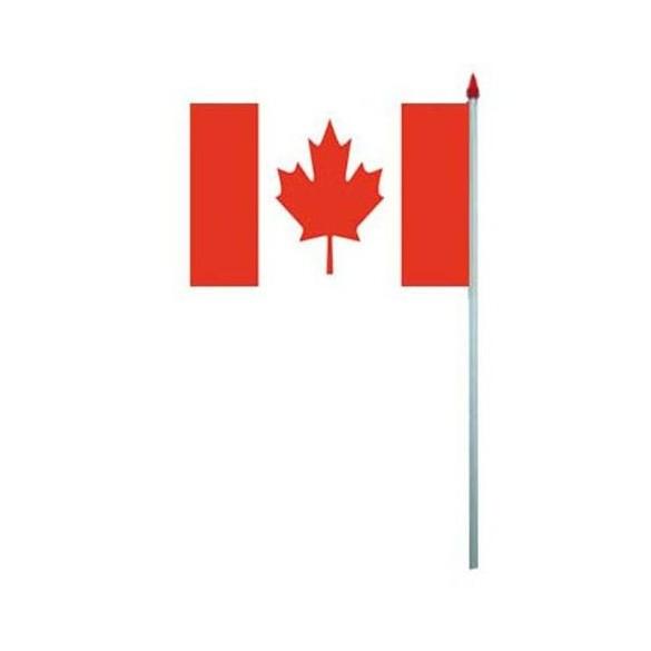 10 Drapeaux papier Canada