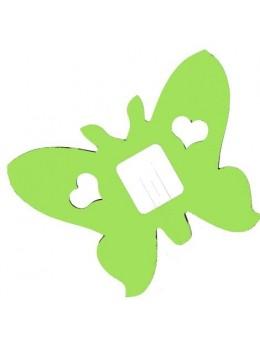 guirlande papillon vert anis