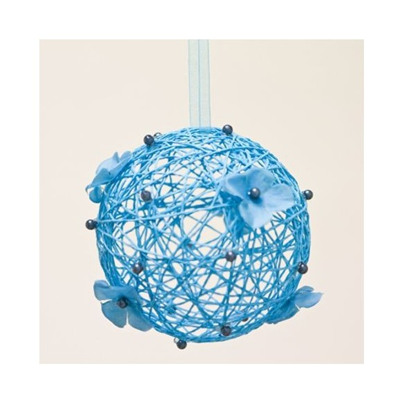 Boule à suspendre turquoise