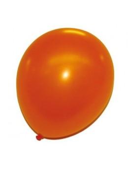 50 ballons orange nacrés