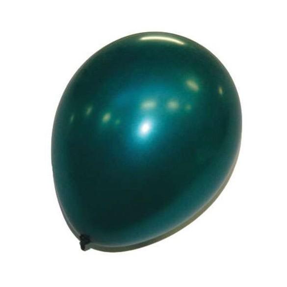 50 ballons vert foncé nacré