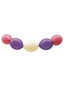 Sachet de 100 ballons double attache multicolore