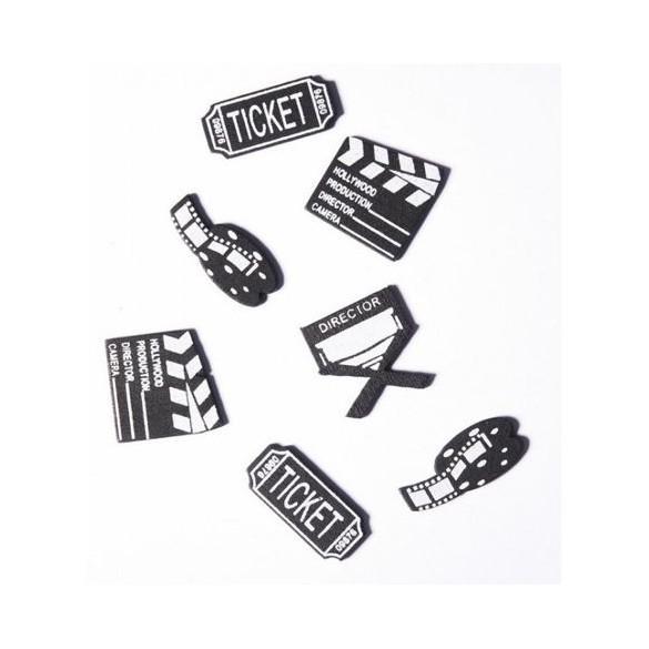 Confetti claps de film en bois