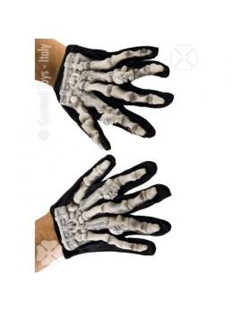 Gants de squelette avec latex 3D