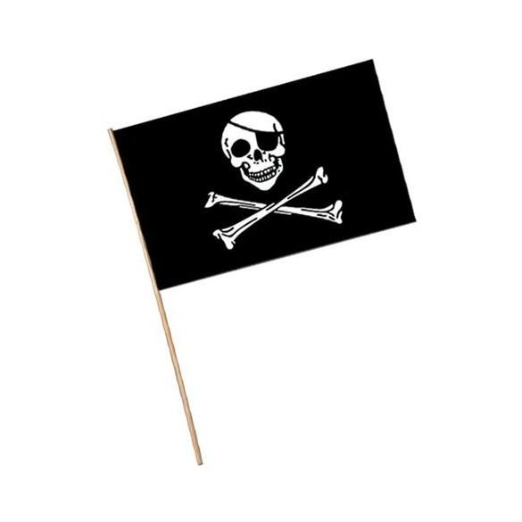 Drapeau pirate sur manche