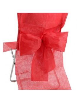 10 Housses de chaise rouge avec noeuds