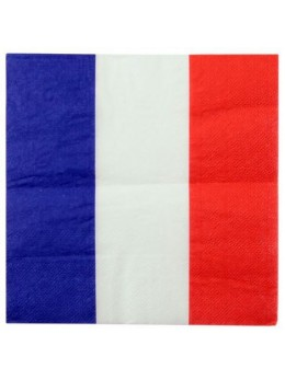 20 Serviettes tricolore