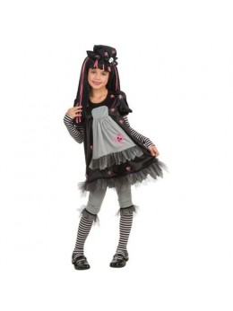 Déguisement enfant gothic girl black dolly