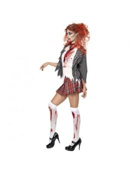Déguisement zombie écolière