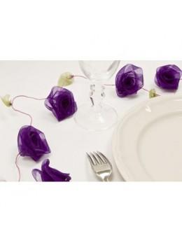 Guirlande de roses violette