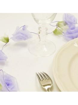 Guirlande de roses lilas