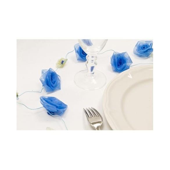 Guirlande de roses turquoise