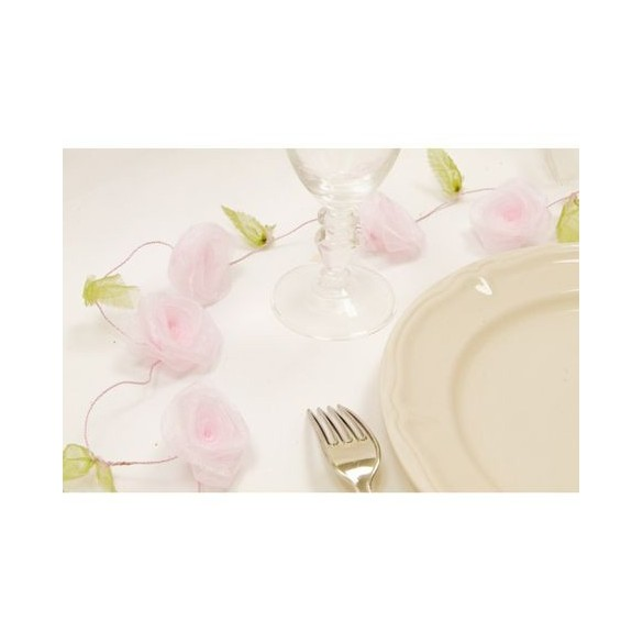 Guirlande de roses rose pale