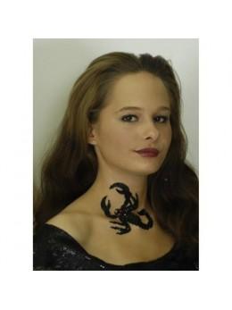 Tatouage Scorpion strass 12cm