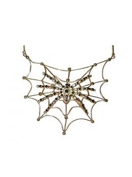 Collier araignée sur toile