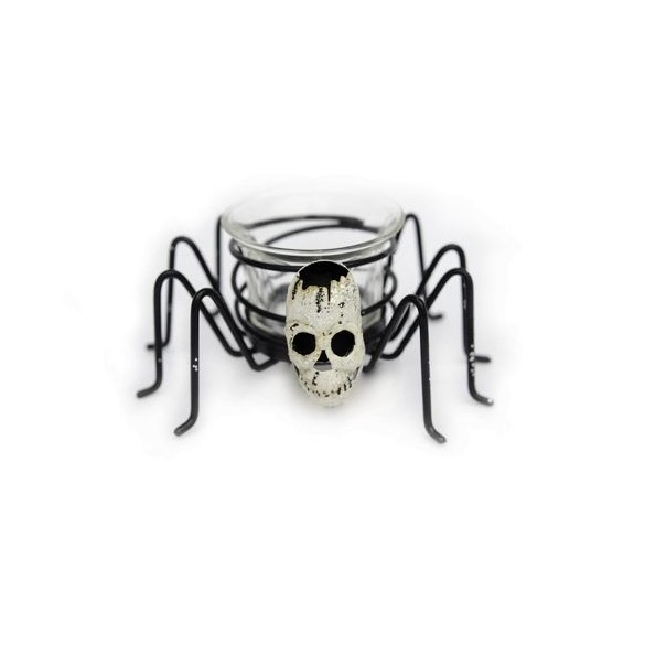 Photophore araignée Skull 12cm