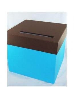 Urne turquoise chocolat