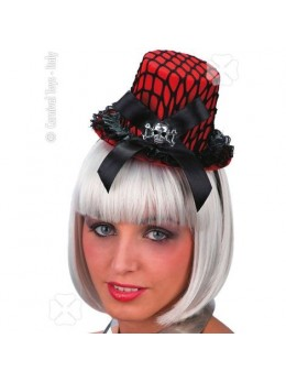 Mini chapeau burlesque rouge
