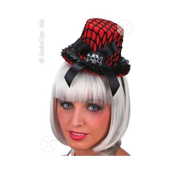 Mini chapeau burlesque rouge