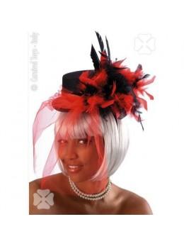 Mini chapeau cabaret noir