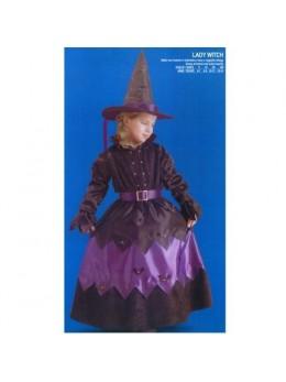 Déguisement sorcière noire et violette deluxe
