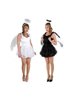 Déguisement couple Anges noir et blanc