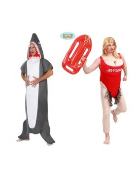 Déguisement couple Requin de Malibu