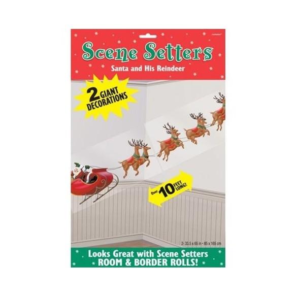 Poster Père Noël et traineau