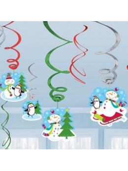 12 Suspensions bonhomme de neige