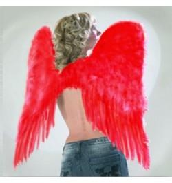 Ailes d'ange plumes rouges 73cm