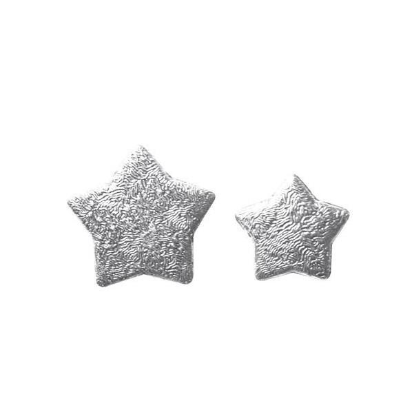 Boite Etoiles 3D argent