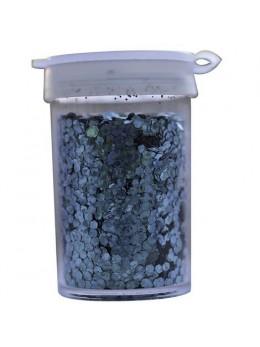 Pot de paillettes hologramme 15g turquoise