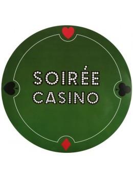 6 Sets de table poker vert