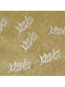 Confetti Vive les mariés irisés transparent