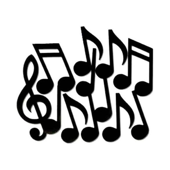 12 Décos Notes de musique noires