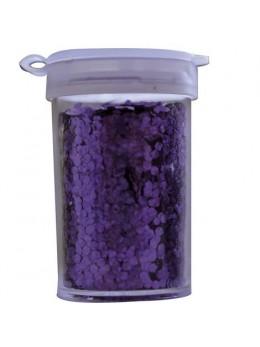 Pot de paillettes hologramme 15g violet
