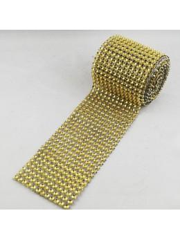 Ruban diamants or 6cm