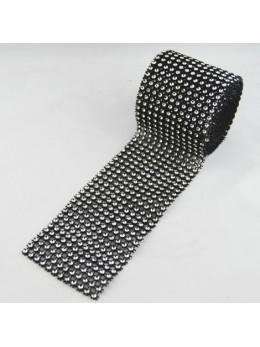 Ruban diamants noir et argent 6cm