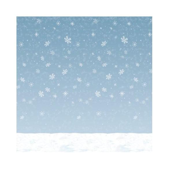 Rouleau déco flocons de neige