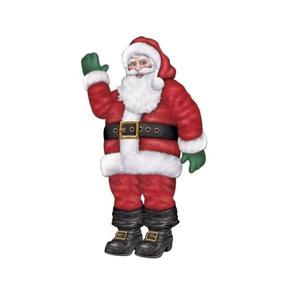 Déco Père Noël 43 cm