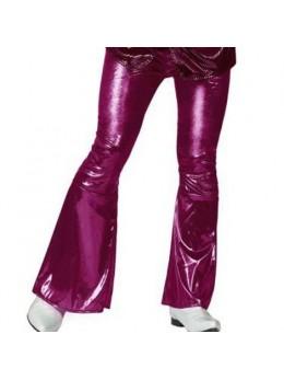 Pantalon disco fuchsia