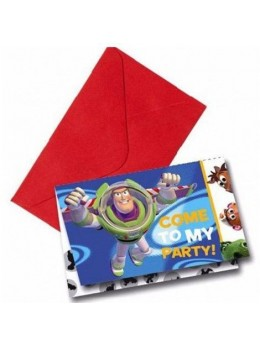 6 Invitations Toy Story