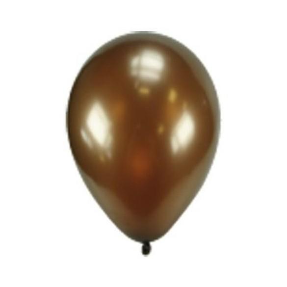 50 ballons chocolat nacrés