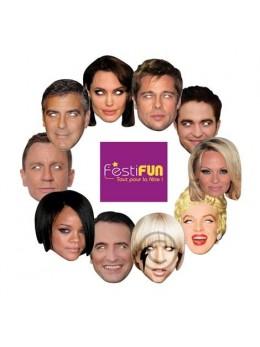 Pack 10 Masques célébrités