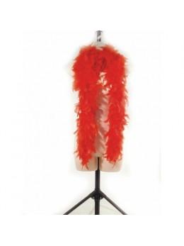 Boa en plumes 1m80 rouge