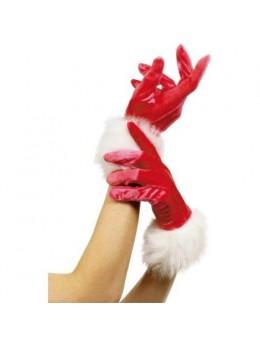 Gants Miss Santa velours et fourrure