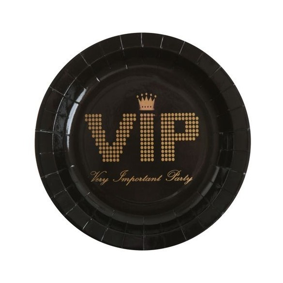 10 Assiettes VIP or