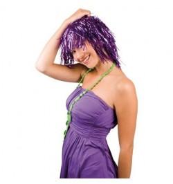 Perruque métallique violette