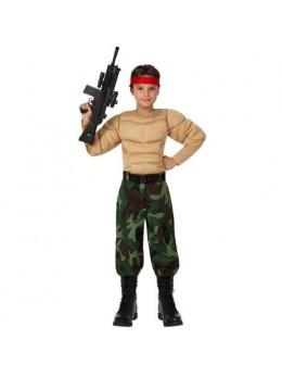 Déguisement militaire muscle enfant