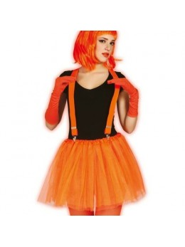 Tutu fluo en résille orange